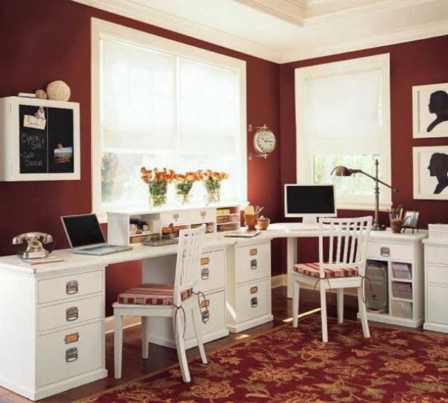 marsala-colour-wall-office