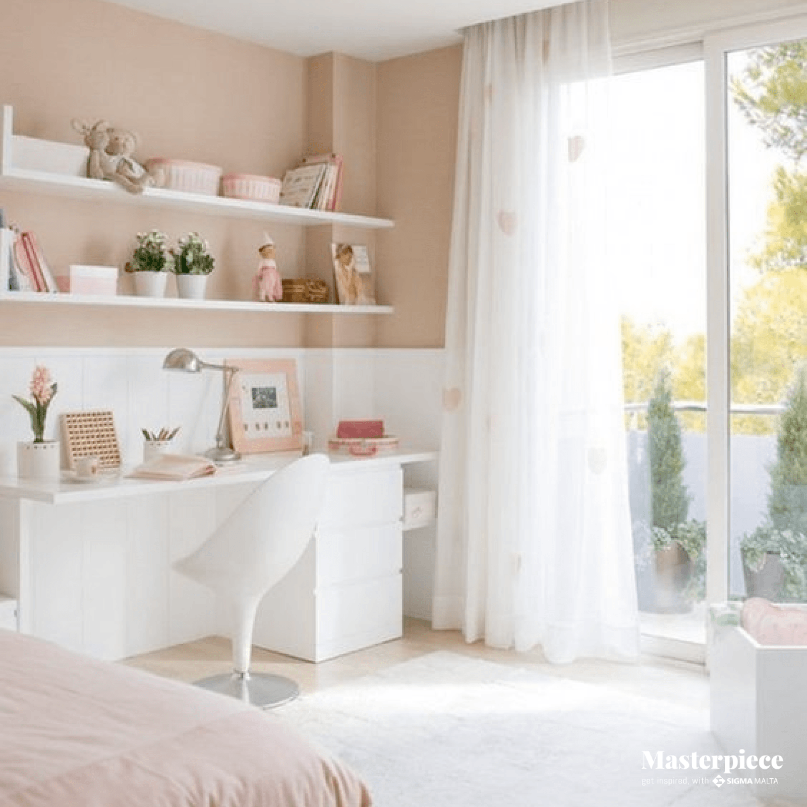 Pink and White </br><span> Princesse Bedroom </span>
