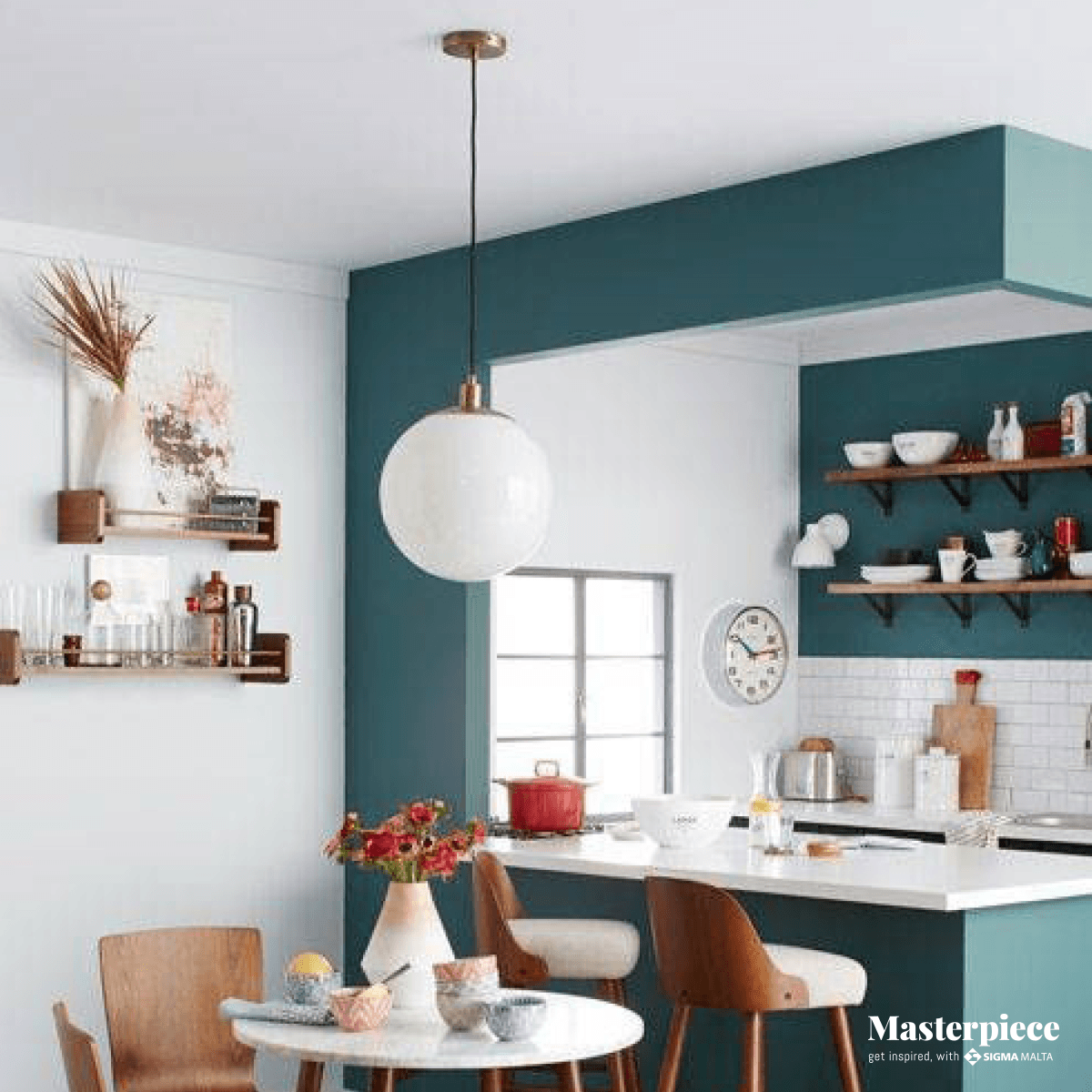 Classic and Colorful</br><span> Kitchen </span>